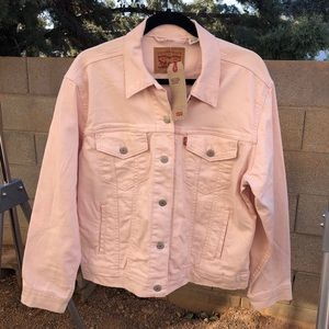 NWT LEVI'S Pink Ex-Boyfriend Trucker Jacket Large